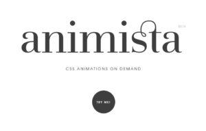 Animista : des animations css sur demande