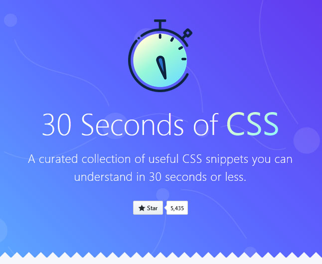 30 seconds of CSS