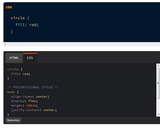SVG propriétés CSS